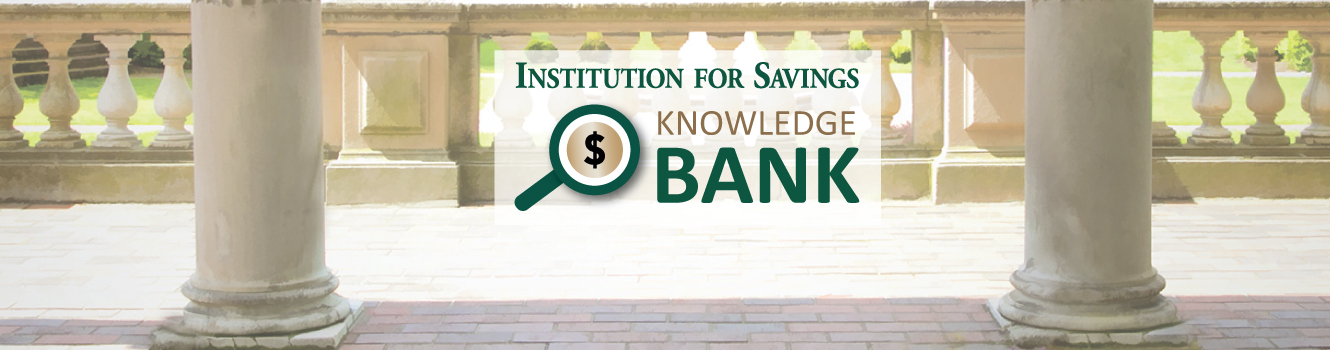 Knowledge Bank on garden background