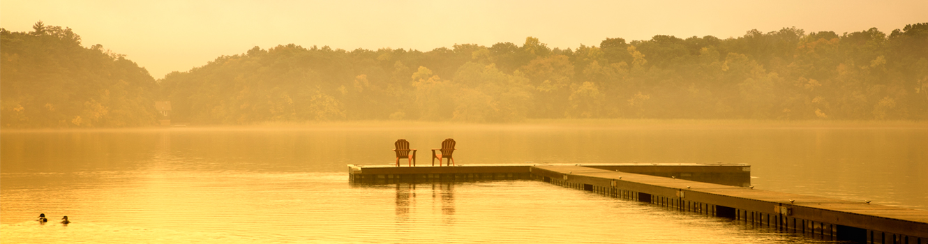 chairs on dock merrimac river